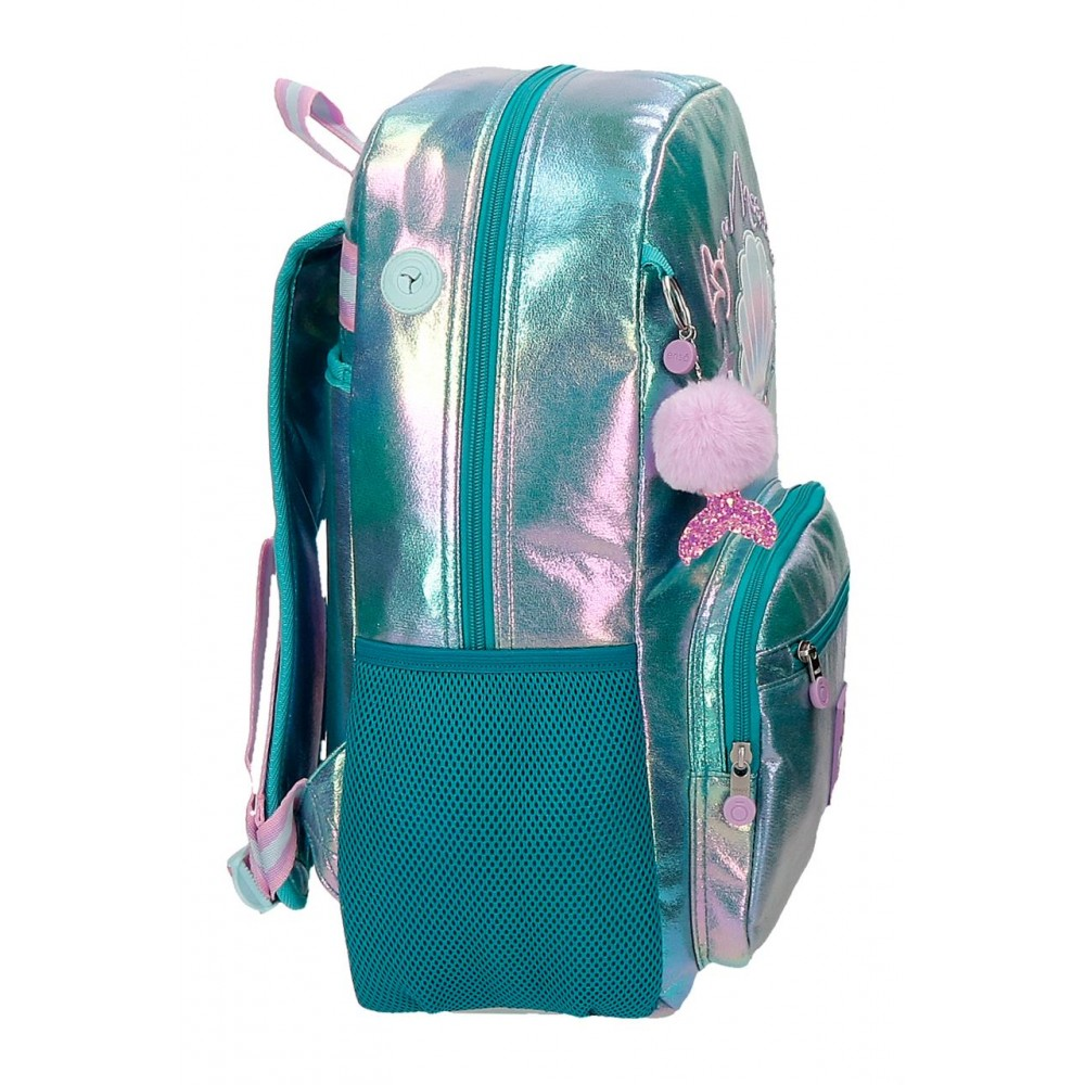 Rucsac fete, adaptabil, compartiment laptop Enso BE A Mermaid, 32x42x14 cm