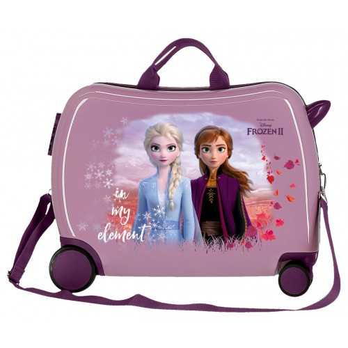 Valiza calatorie ABS 50 cm mov Frozen 2 Nature is Magical