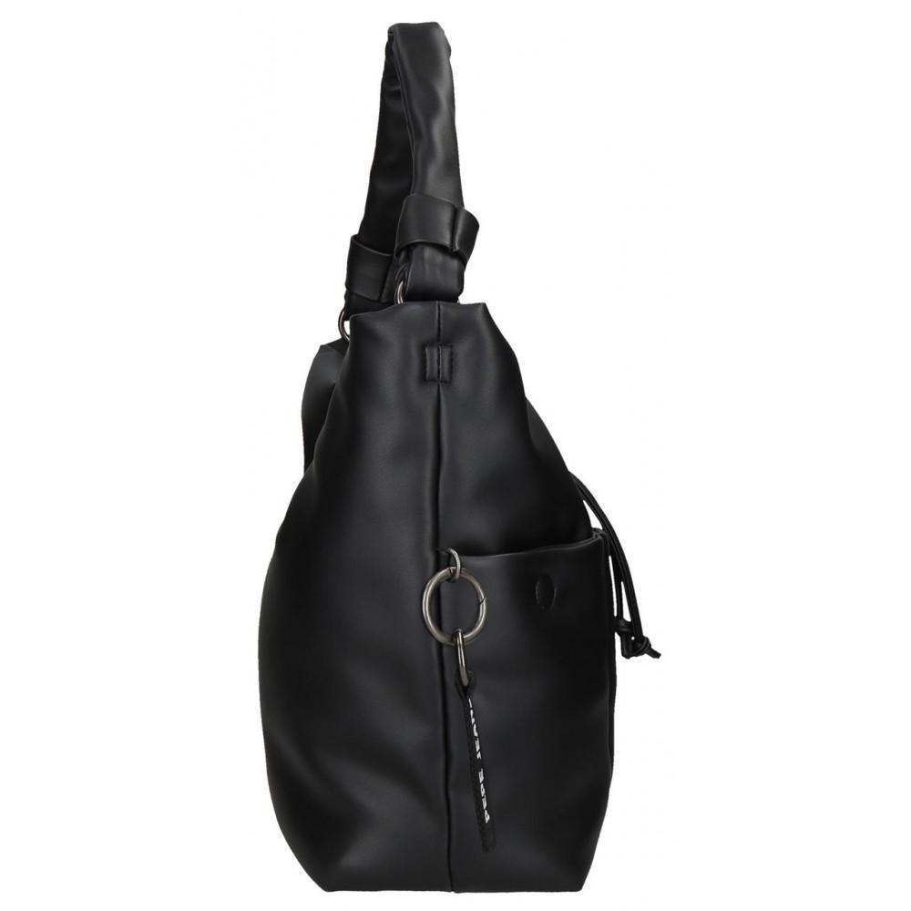 Geanta umar dama Pepe Jeans Bloat neagra, 31x26x12 cm