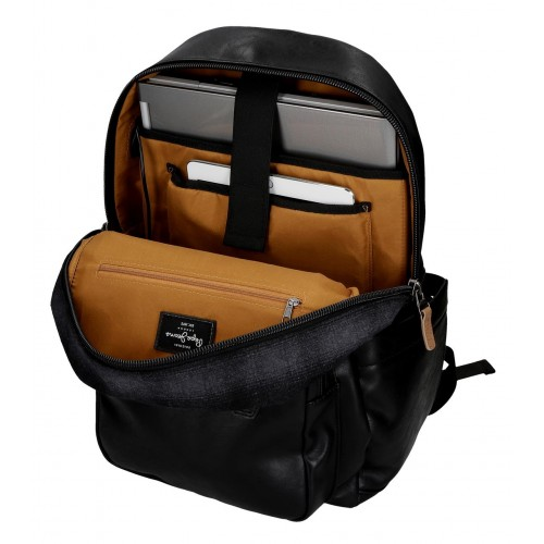 Rucsac 44 cm compartiment laptop/tableta Pepe Jeans Scotch negru