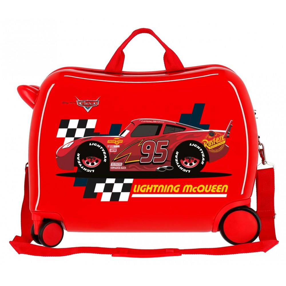 Valiza calatorie copii ABS Cars Lightning McQueen, rosie, 50x38x20 cm