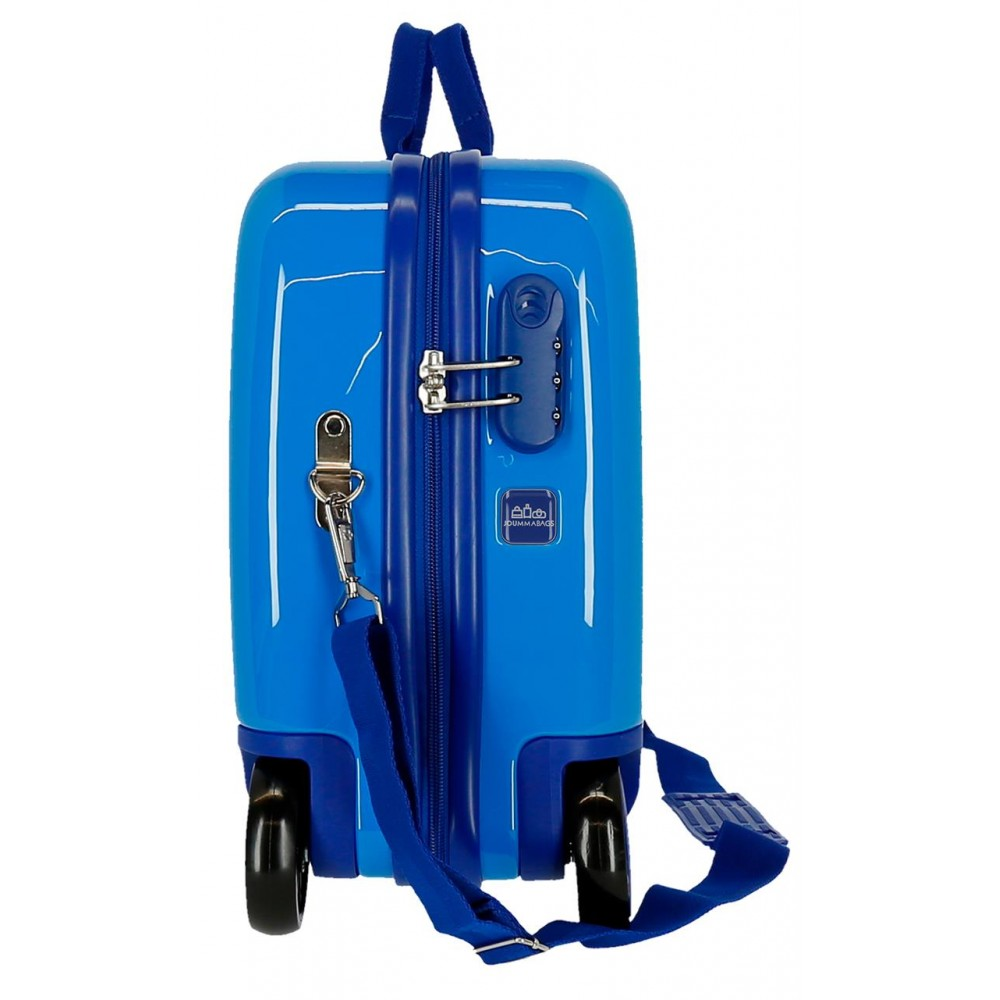 Valiza calatorie copii ABS albastra Cars Lightning McQueen, 50x38x20 cm