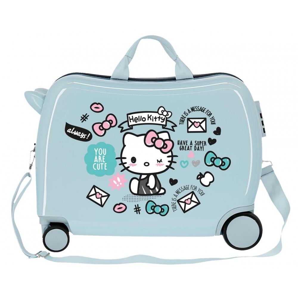 Valiza calatorie copii ABS Hello Kitty You are cute, 38x50x20 cm