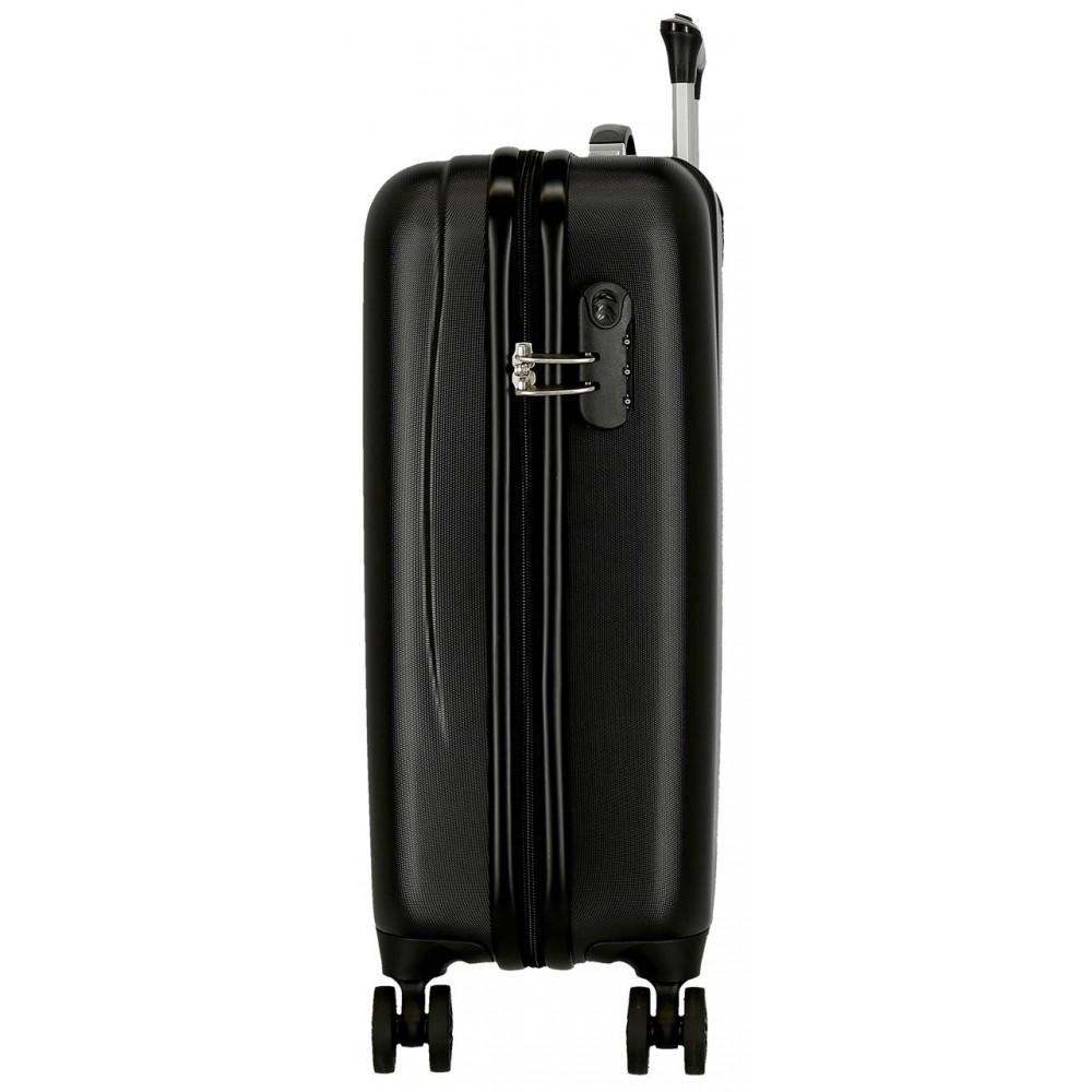 Troler cabina ABS El Potro Chic, negru, 55x38x20 cm