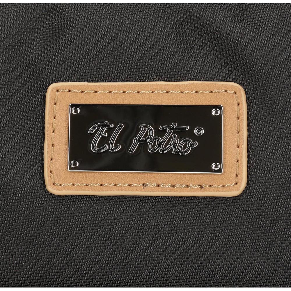 Rucsac dama casual negru El Potro Chic, 24x28x10 cm