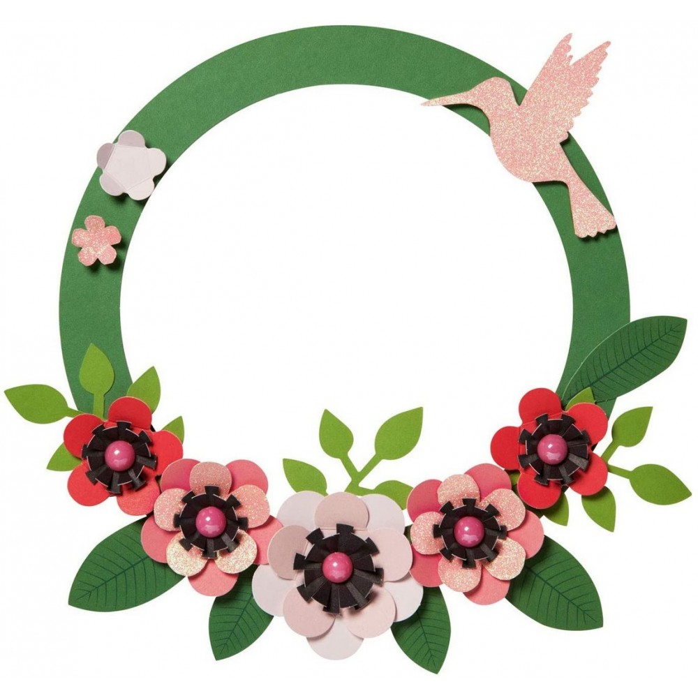 Set creativ floral, pentru 3 cornonite, Folia