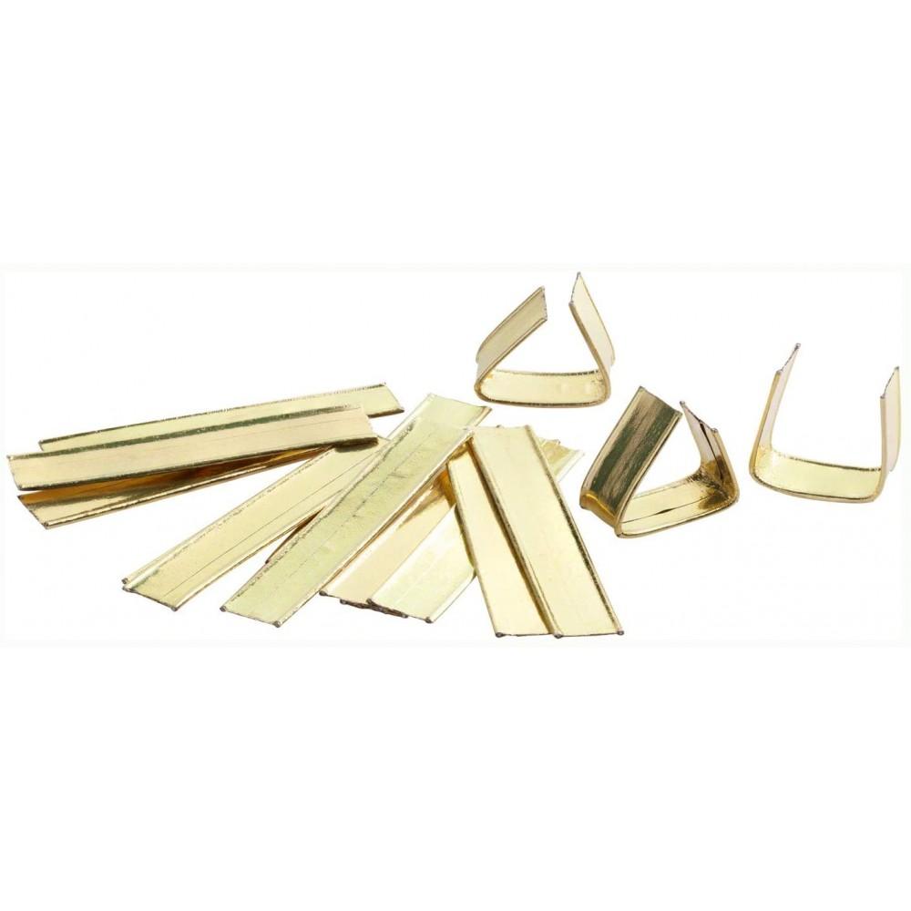 Cleme aurii pentru inchiderea pungilor, set 25 bucati Folia