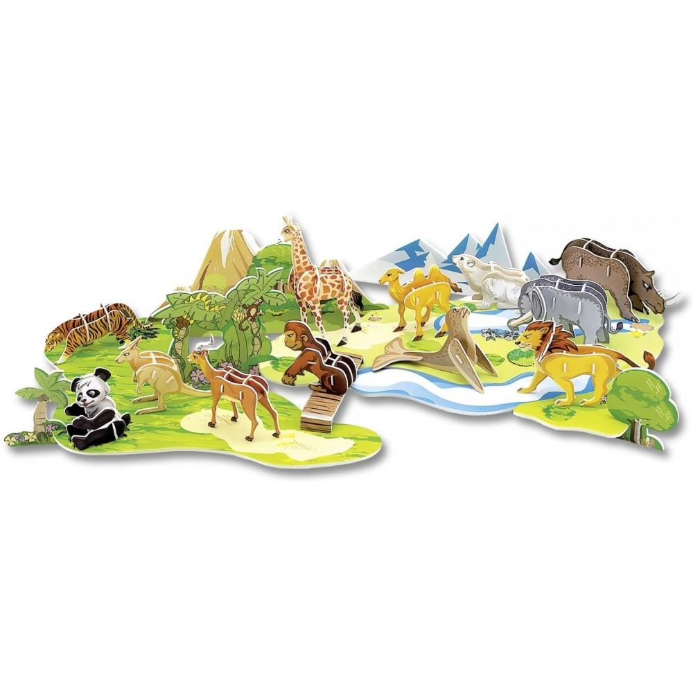Model logic 3D animale din gradina zoologica Folia