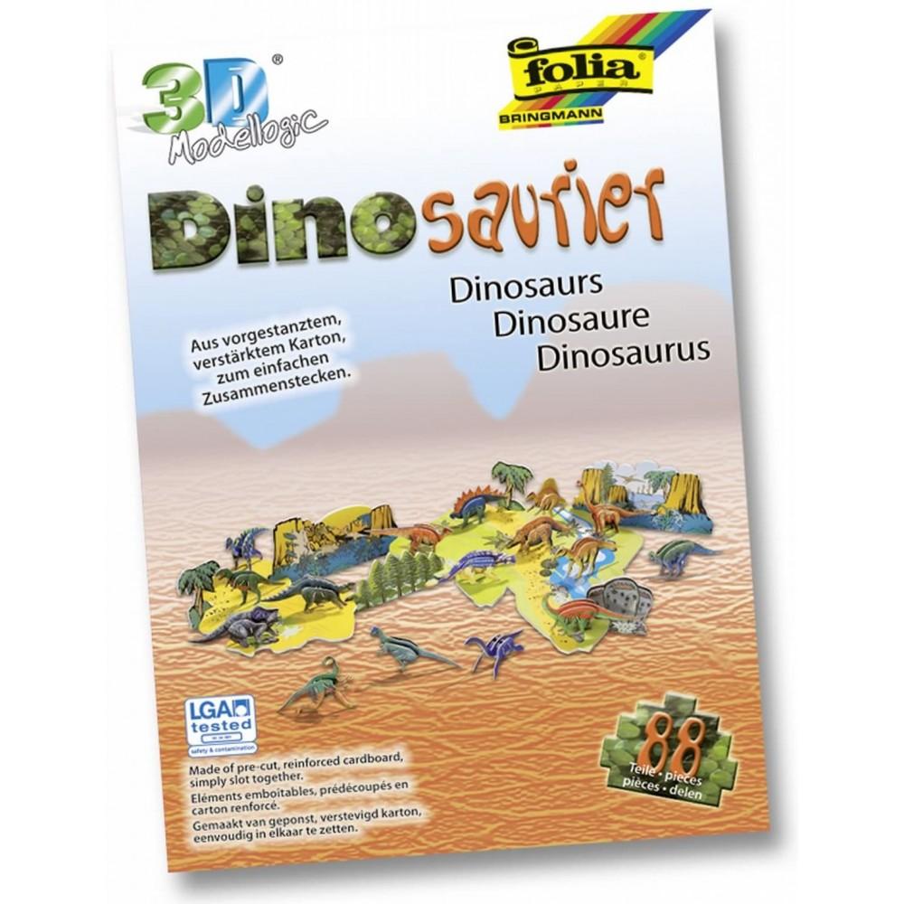 Model logic 3D dinozauri Folia