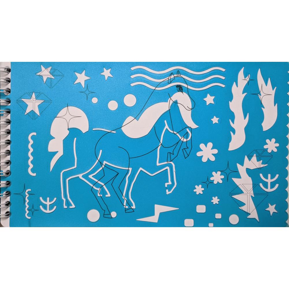 Set desen cu sabloane Ponyhof Folia