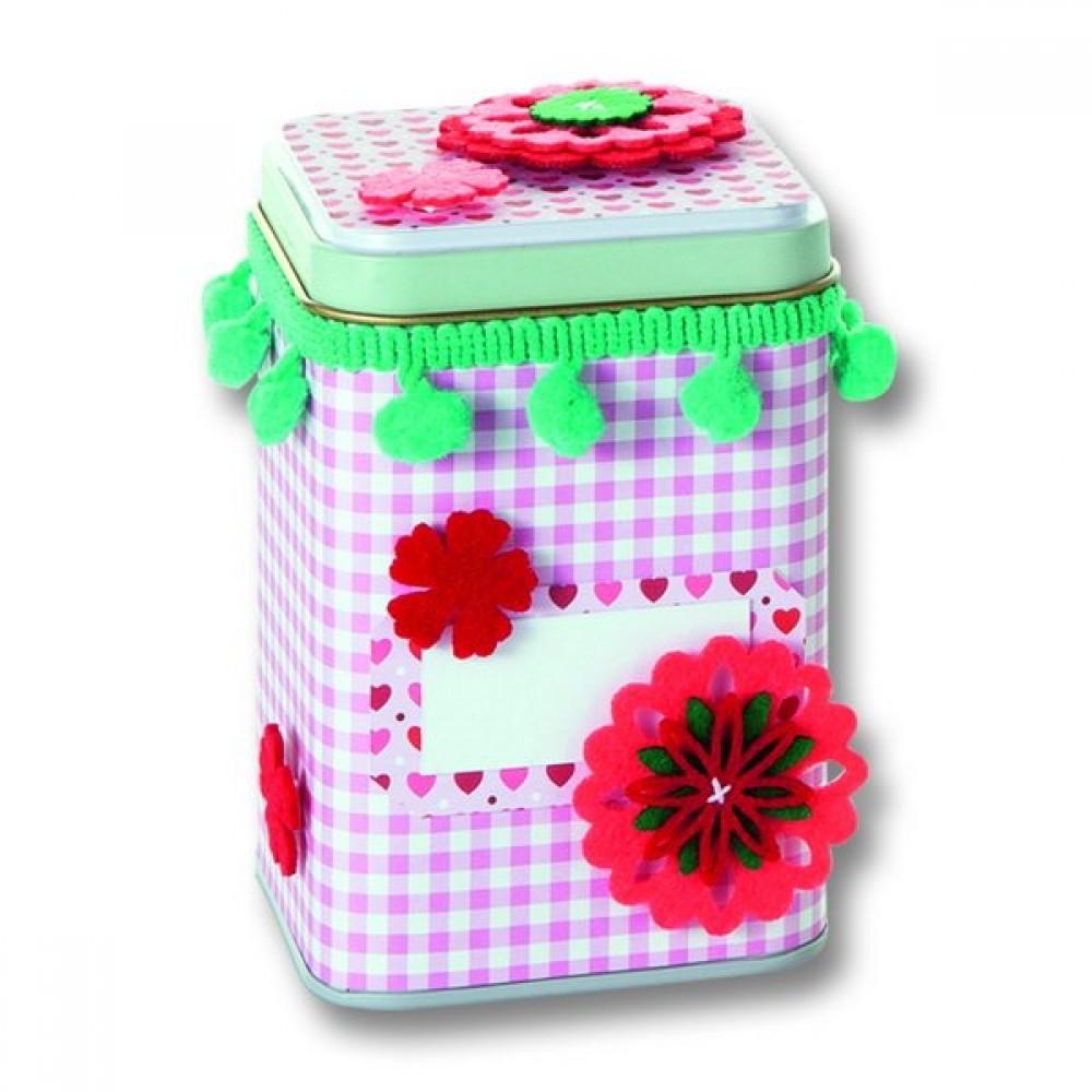 Stickere flori autoadezive din pasla, set 11 bucati Berry, Folia