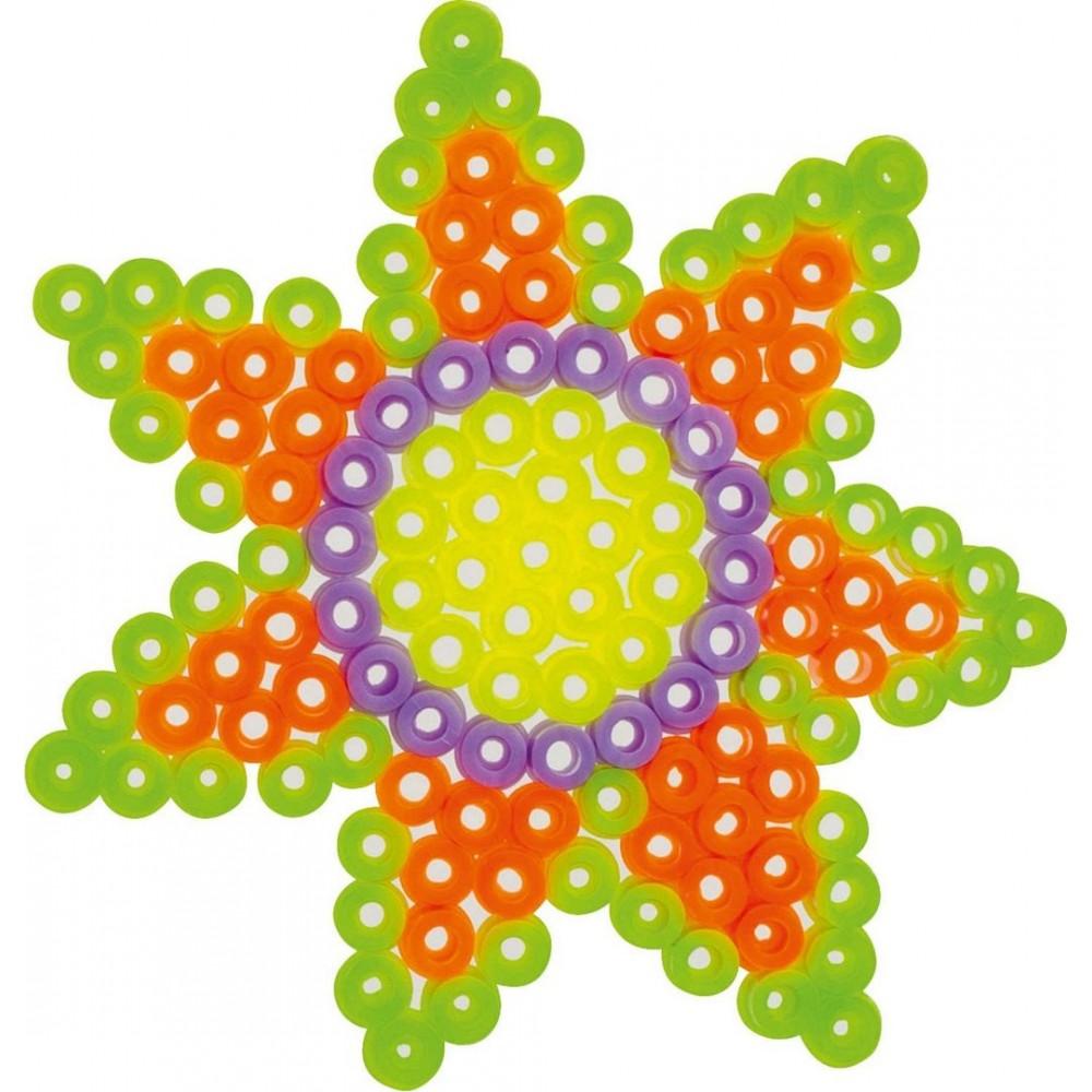 Set creativ Flower cu margele de calcat si suport floare, Folia