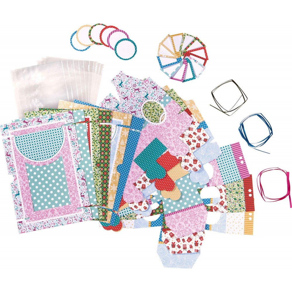 Set creativ cutii pretaiate pentru cadou, 9 bucati asortate, Folia