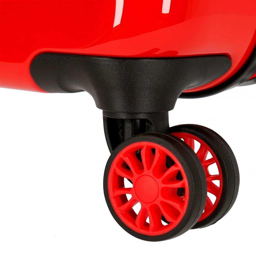 Troler copii, cabina, ABS rosu Cars Lightning McQueen, 55x38x20 cm