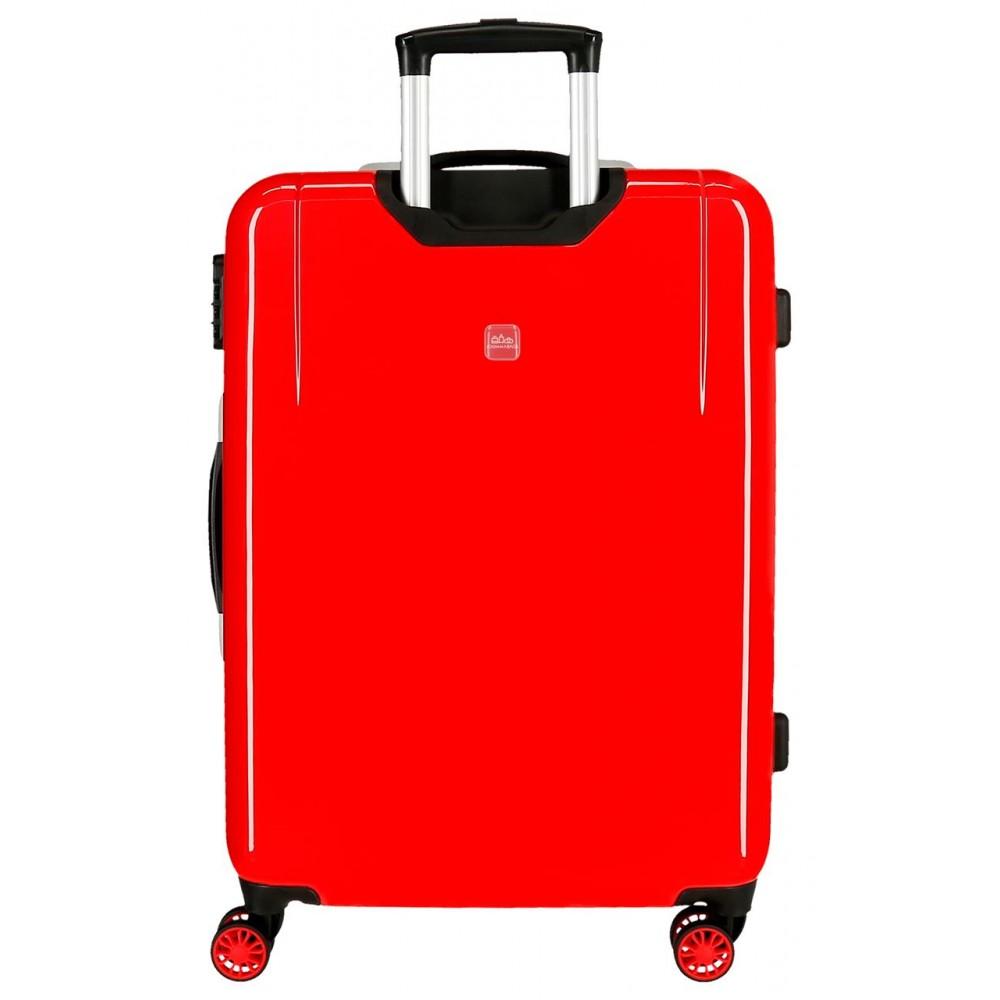 Troler mediu ABS Cars LMQ, rosu, 48x68x26 cm