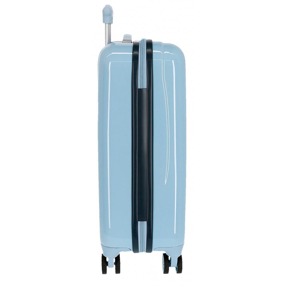 Troler copii, cabina, ABS bleu Frozen Adventure of my Mind, 55x34x20 cm