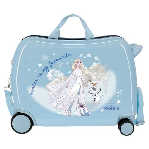 Valiza calatorie ABS, bleu, 4 roti Frozen Adventure of my Mind