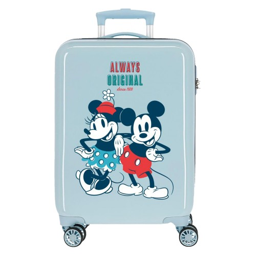 Troler cabina ABS 55 cm albastru deschis Mickey Always Original