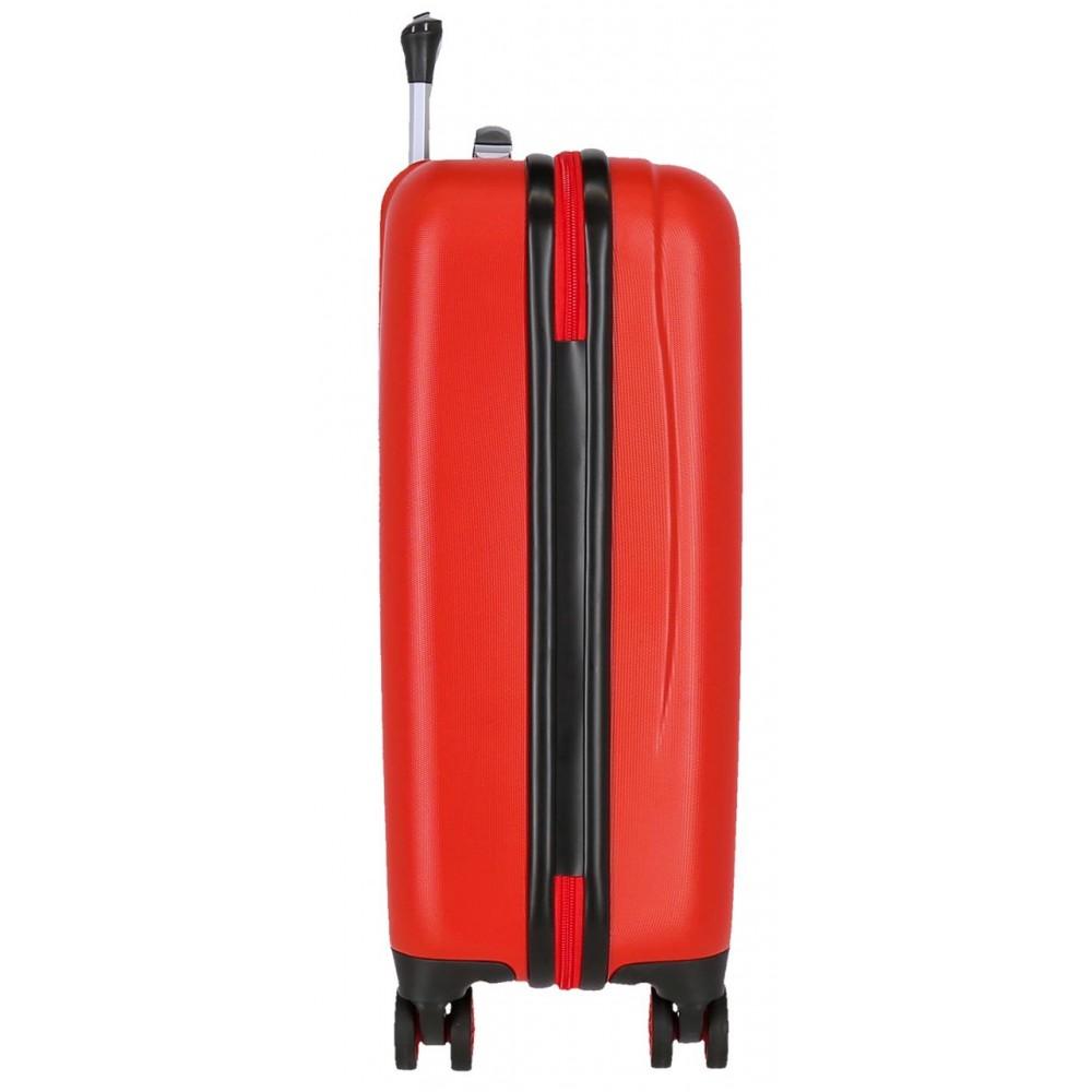 Troler cabina ABS Mickey The one, rosu, 55x38x20 cm