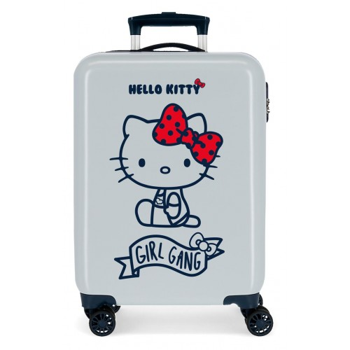 Troler cabina ABS 55 cm albastru deschis Girl Gang Hello Kitty