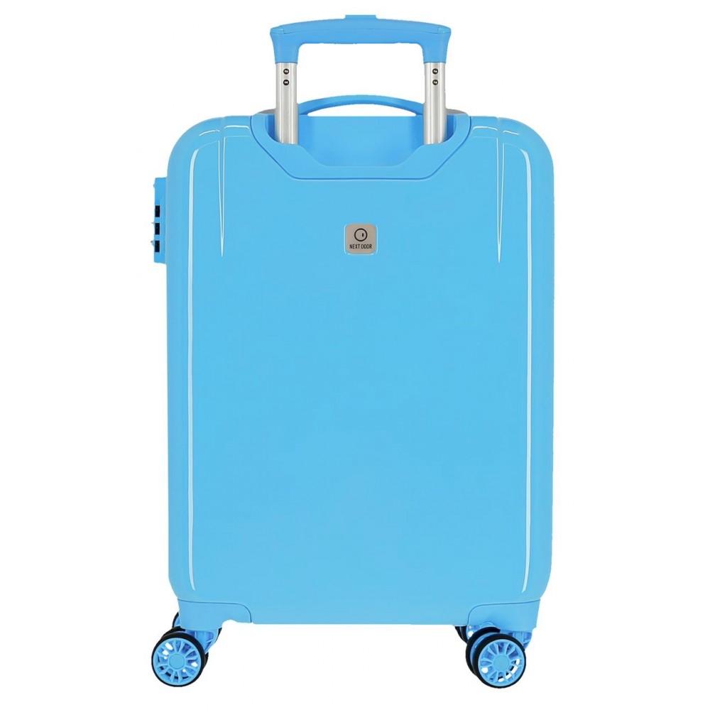 Troler copii, cabina, ABS Mickey Enjoy the day oh boy, albastru, 55x38x20 cm