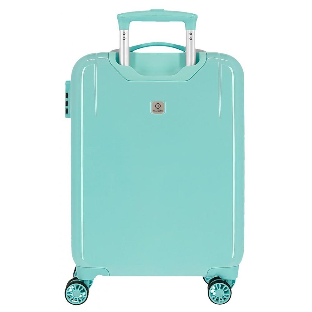Troler copii, cabina, ABS Minnie Rainbow, turcoaz, 55x38x20 cm