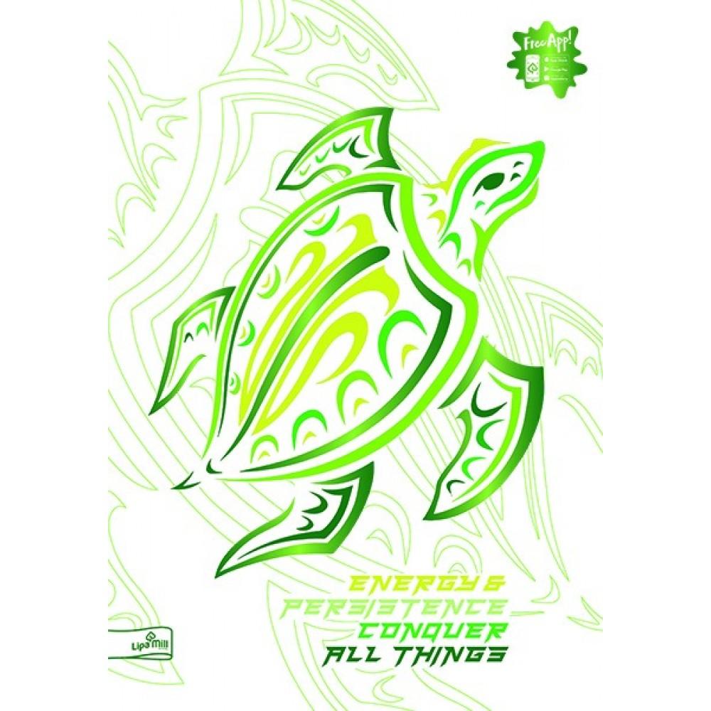 Caiet A4, 40 file, coperta 3D cu imprimeuri metalice Animale, dictando