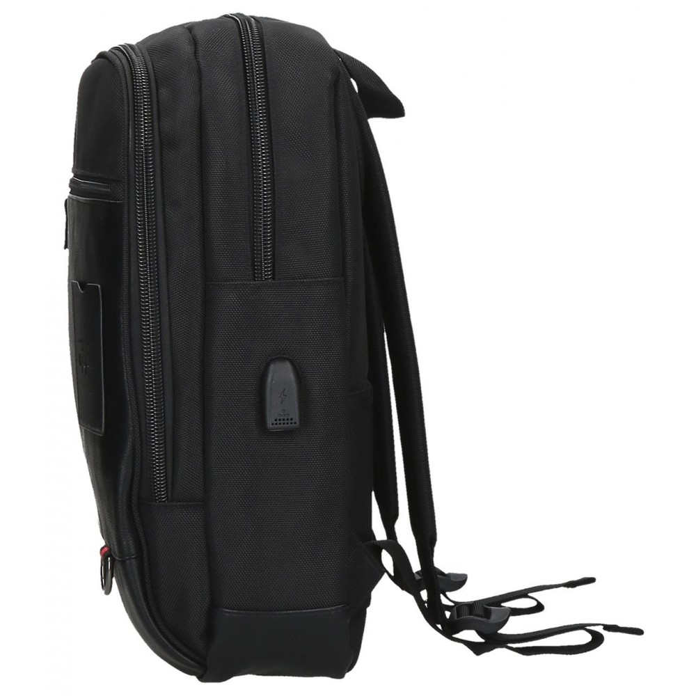 Rucsac casual, compartiment laptop/tableta Pepe Jeans Counter, negru, 28x40x14 cm