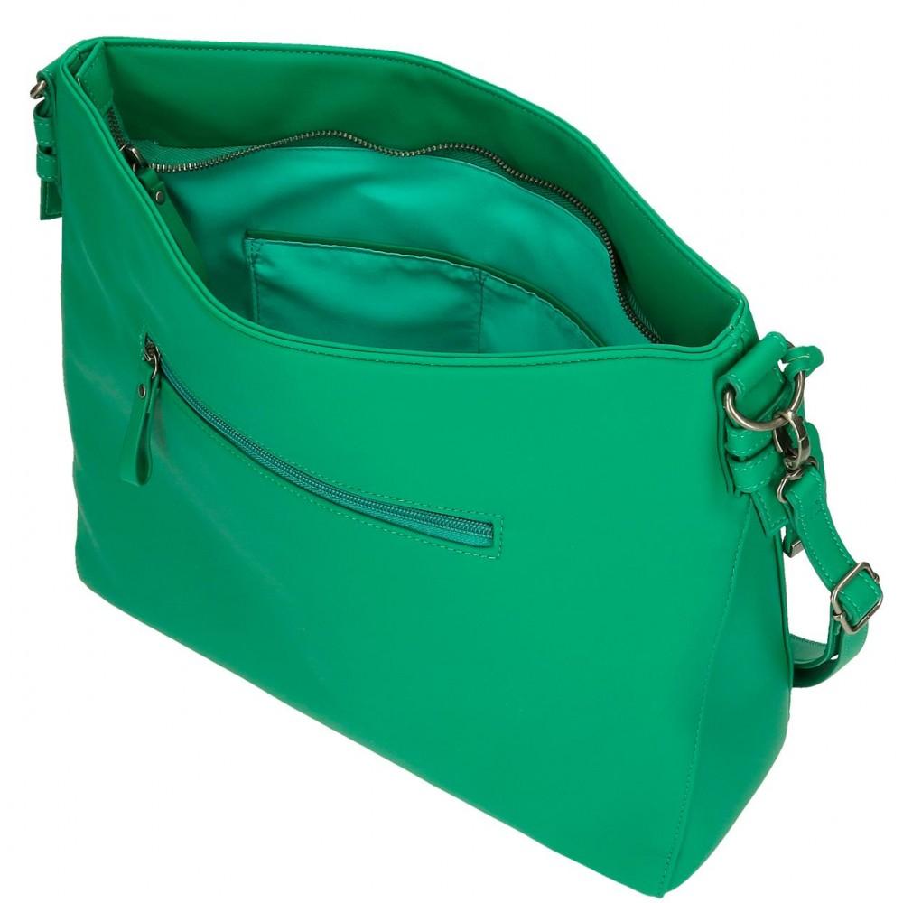 Geanta hobo dama Pepe Jeans Aina, verde, 34x30x11 cm