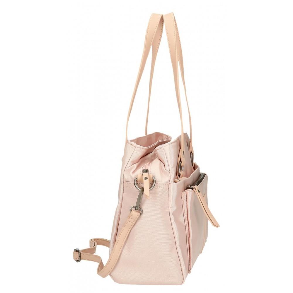 Geanta umar dama Pepe Jeans Mia, roz, 34x24x13 cm