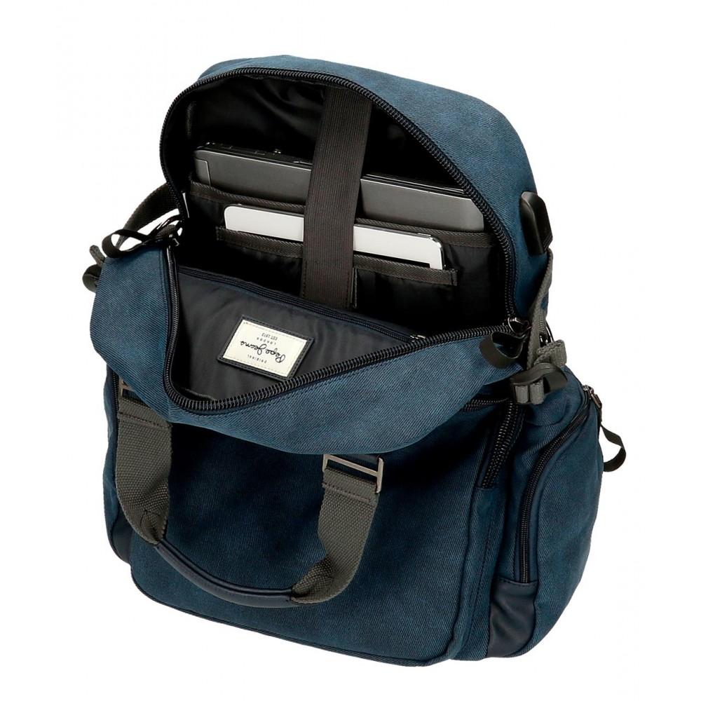 Rucsac casual, compartiment laptop/tableta Pepe Jeans Vivac, 28x40x16 cm