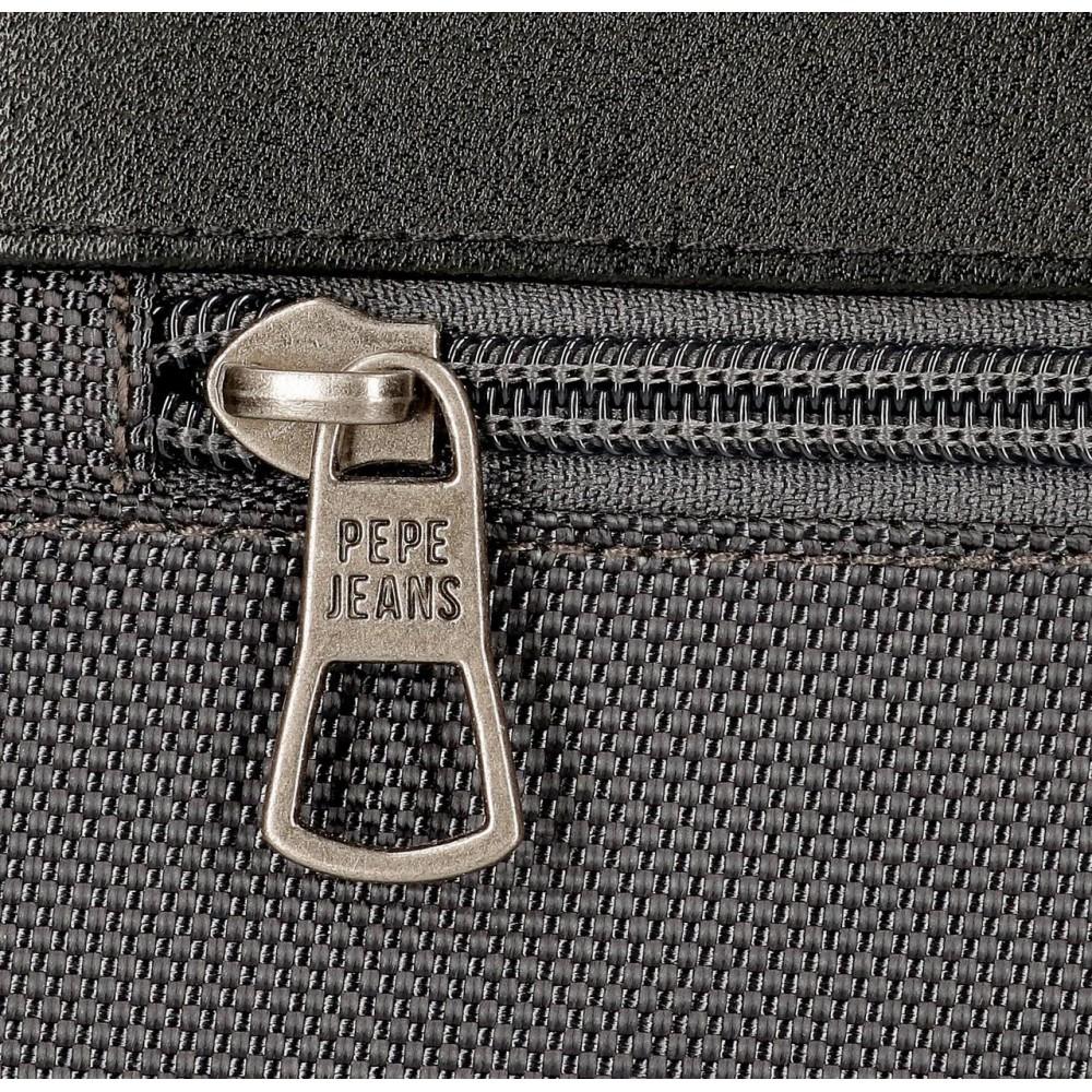Geanta umar barbati 2 compartimente Pepe Jeans Bomber, gri, 17x22x7 cm