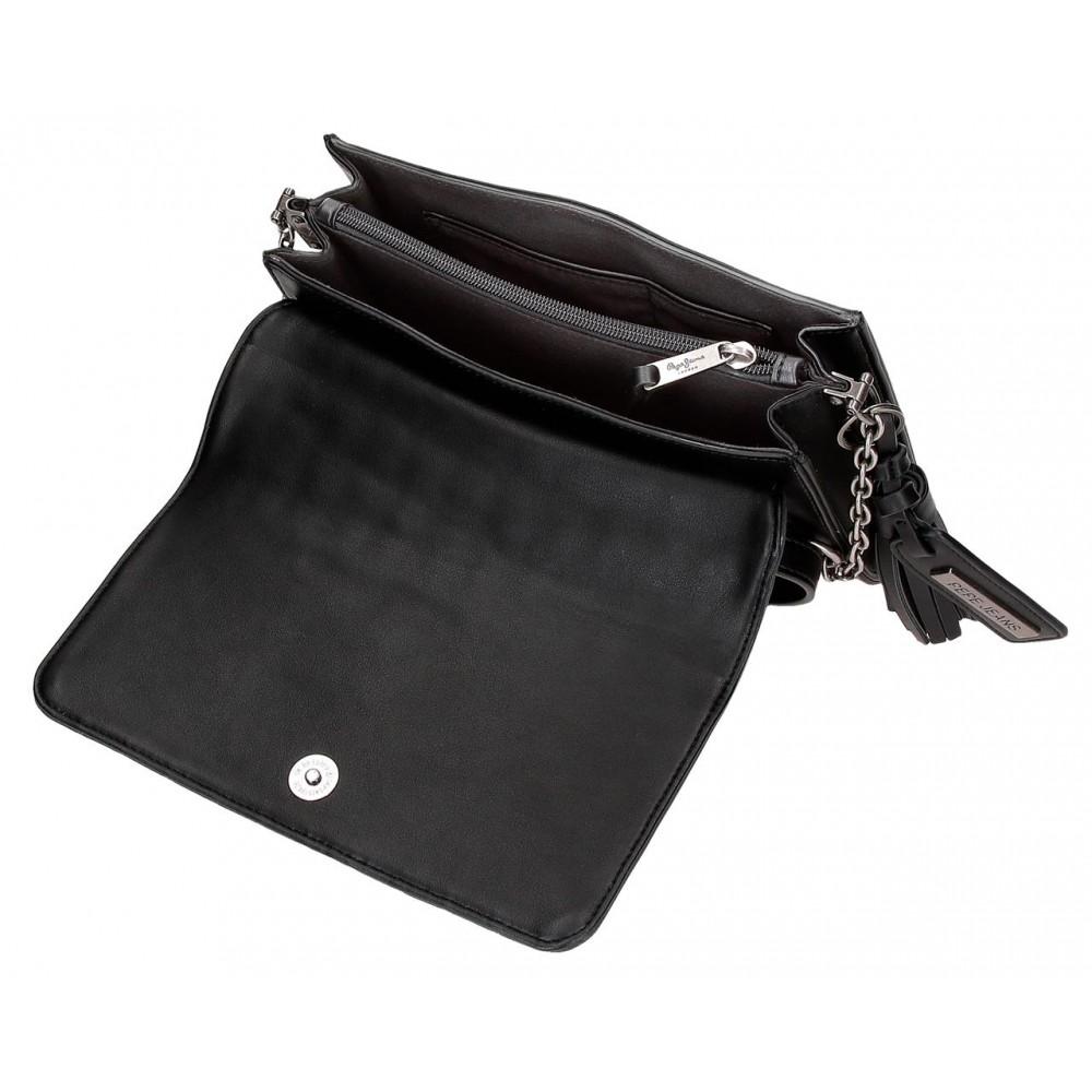 Geanta umar Pepe Jeans Lia negru, 23x15x5.5 cm