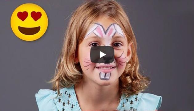 Cum sa faci un machiaj de iepuras cu vopsea de pictat pe fata Jovi