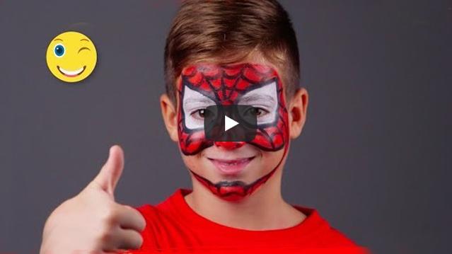 Cum sa faci un machiaj de super erou (Spiderman) cu ajutorul vopselei de pictat pe fata Jovi