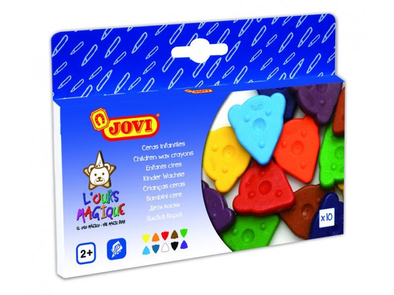 Creioane cerate 10 culori/set Magic Bear Jovi