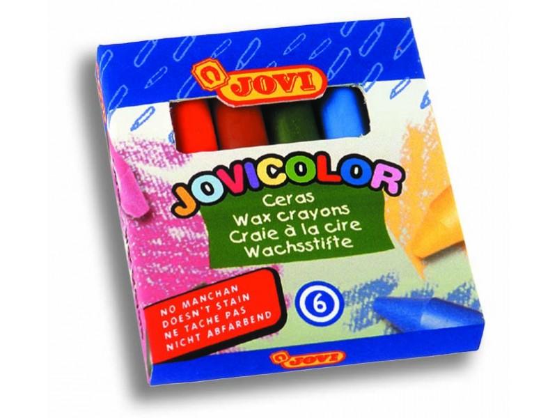 Creioane cerate 6 culori/set Jovi