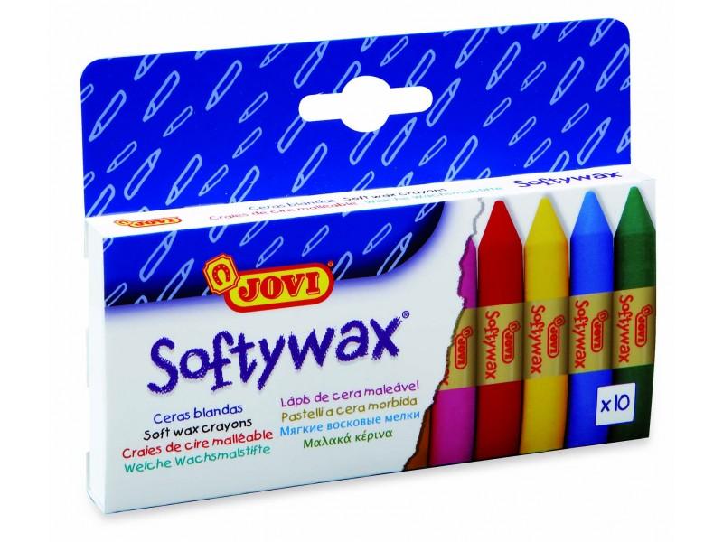 Creioane cerate Soft 10 culori/set Jovi Softywax