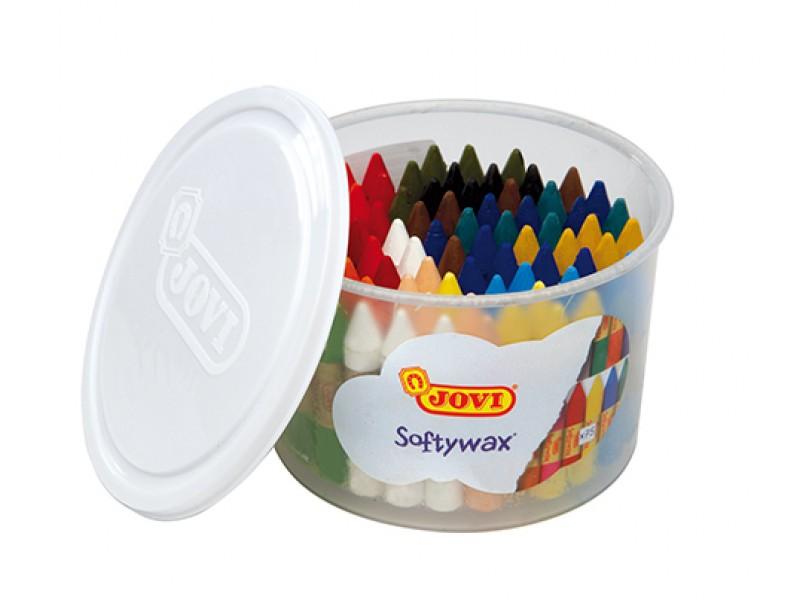 Creioane cerate Soft 15 culori x 5 buc/culoare, total 75 buc/suport Jovi Softywax