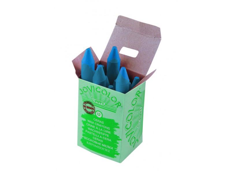 Creioane cerate albastru deschis 12 buc/set Jovi