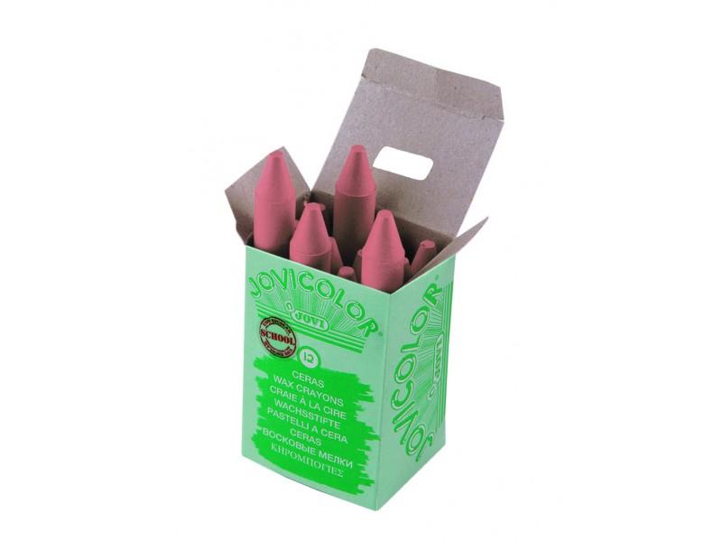 Creioane cerate roz pal 12 buc/set Jovi