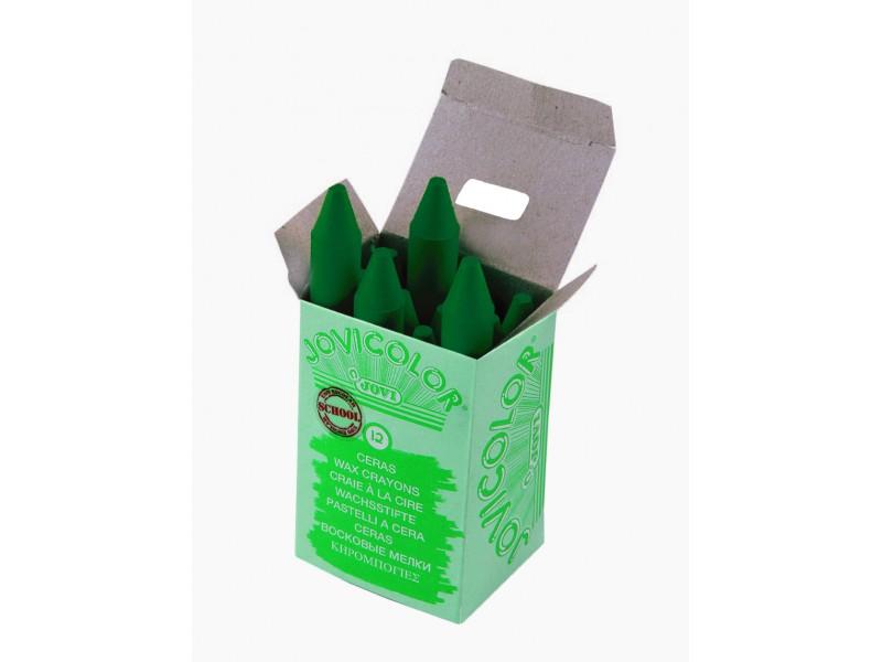 Creioane cerate verde inchis 12 buc/set Jovi