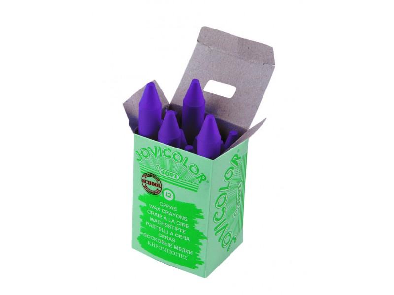 Creioane cerate violet 12 bucati/set Jovi