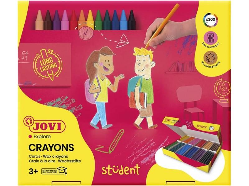 Creioane colorate 300 buc/set 12 culori Jovi