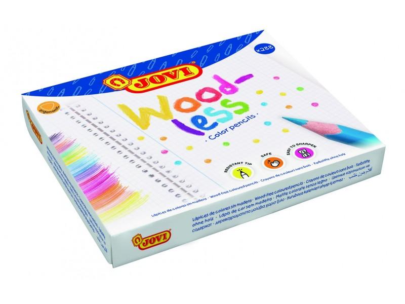 Creioane colorate din lemn 12 culori x 24 buc/set Jovi Woodless