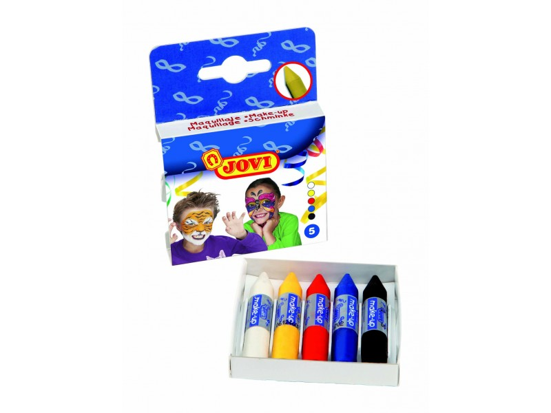Creioane de pictat pe fata 5 culori x 5,6gr/set Jovi