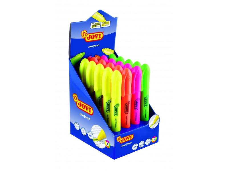 Evidentiatoare gel 4 culori 20 bucati/display Jovi
