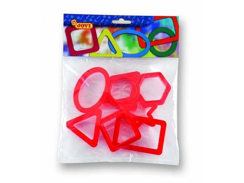 Forme modelaj figuri geometrice 8 buc/blister Jovi