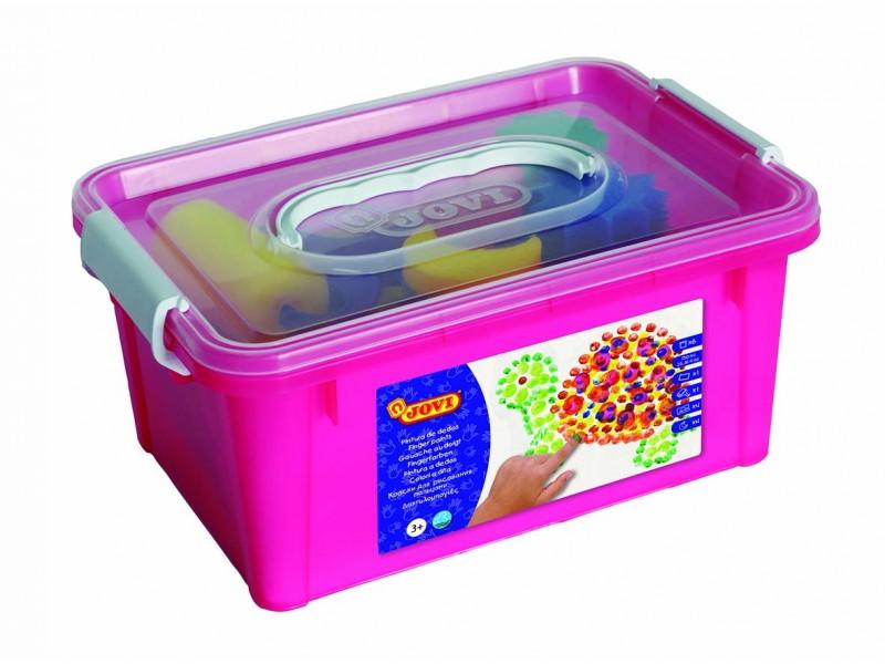 Kit pentru pictat cu degetele 6 culori x 125 ml + accesorii Jovi