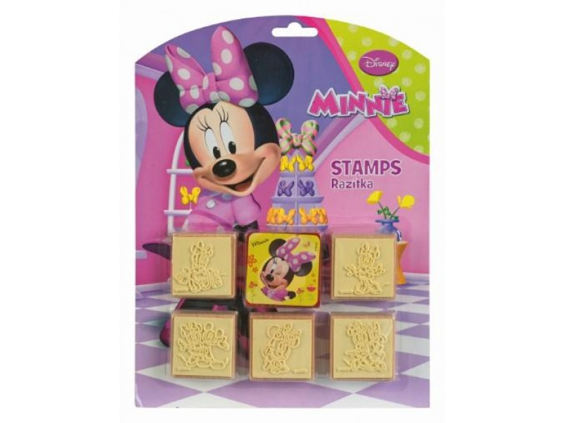 Set creativ 5 stampile din lemn Minnie Mouse